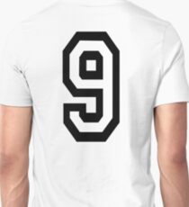 9, TEAM, SPORTS, NUMBER 9, NINE, NINTH, competition T-Shirt