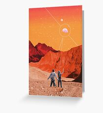 Mars Holidays Greeting Card