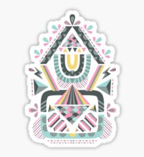 ethnic abstraction Sticker