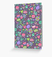 Macarons and flowers Greeting Card