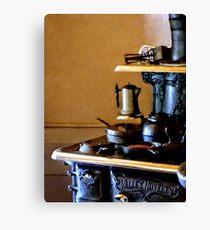 Coffeepot on Stove Canvas Print