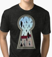 """""""Magritte from the lock"""" Tri-blend T-Shirt"""