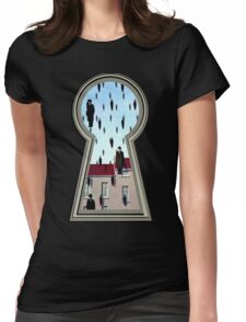 """Magritte from the lock"" Womens Fitted T-Shirt"