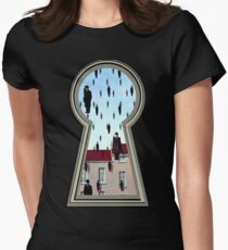 """Magritte from the lock"" Women's Fitted T-Shirt"