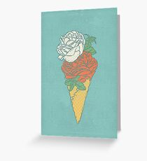 Rose ice cream Greeting Card