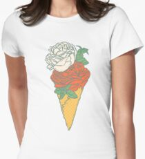 Rose ice cream Womens Fitted T-Shirt
