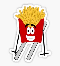Skiing - French Fry Sticker