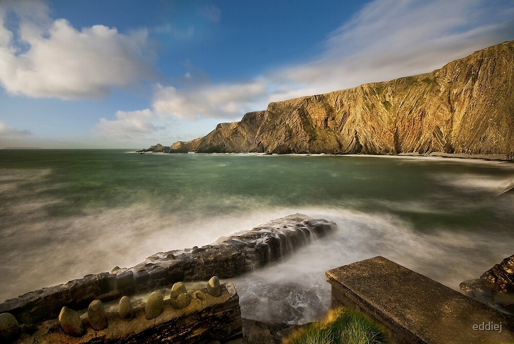 Hartland Quay north Devon by eddiej