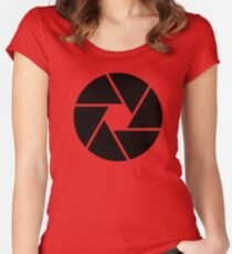 Photographer Photography Lens Women's Fitted Scoop T-Shirt