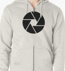 Photographer Photography Lens Zipped Hoodie