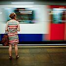 Mile End Tube Stop, London by Bob Ramsak