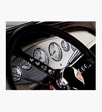 Ford Hot Rod Dashboard Photographic Print