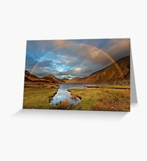 Wasdale and Wastwater Rainbow in the English Lake District Greeting Card