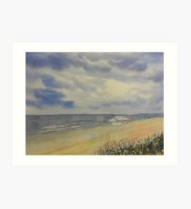 Bridlington South Bay from the Dunes Art Print