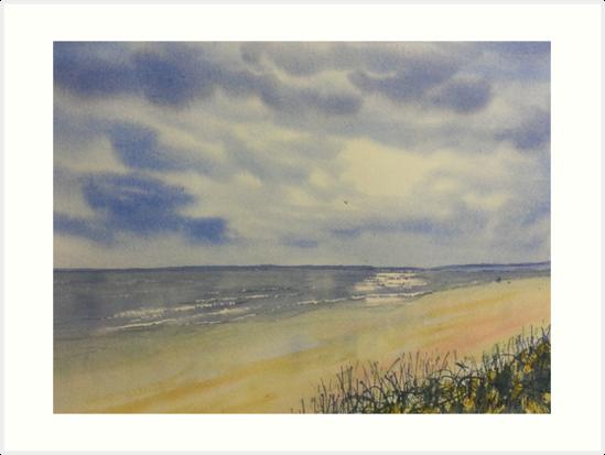 Bridlington South Bay from the Dunes by Glenn  Marshall