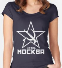 Black Lagoon Hotel Moscow white Women's Fitted Scoop T-Shirt