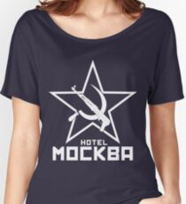 Black Lagoon Hotel Moscow white Women's Relaxed Fit T-Shirt