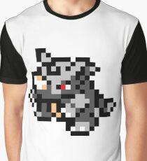 Pokemon 8-Bit Pixel Rhydon 112 Graphic T-Shirt