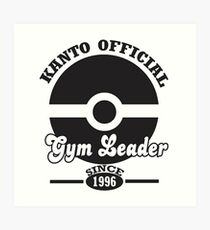 Pokemon Kanto Official Gym Leader Art Print