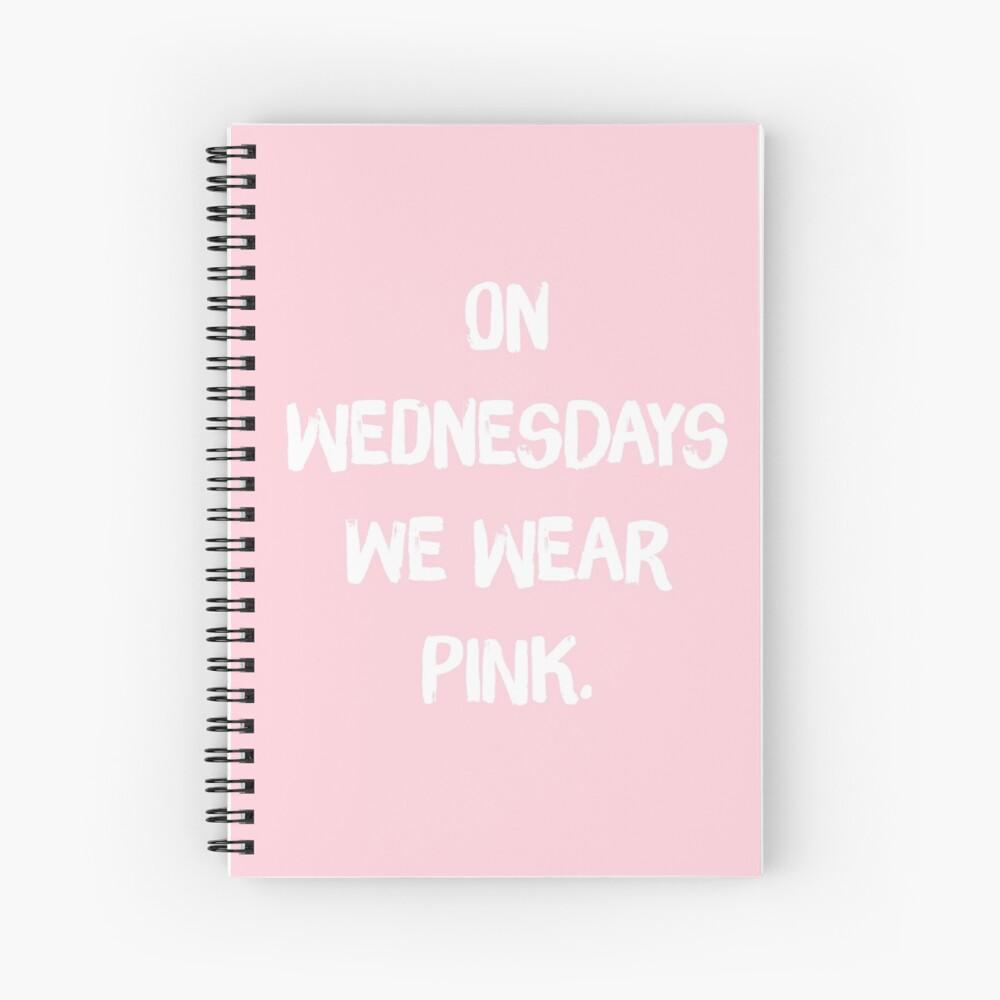 Los miércoles We Wear Pink - Mean Girls, Regina George Cuaderno de espiral