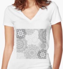 Mandalas Women's Fitted V-Neck T-Shirt