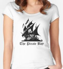 The Pirate Bay Women's Fitted Scoop T-Shirt
