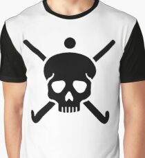 Field hockey skull Graphic T-Shirt