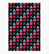Gamer Pattern Solid Black Photographic Print
