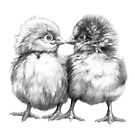 Baby Chicks - Little Kiss G133 by schukinart