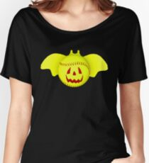 Novelty Halloween Softball Bat Mashup Women's Relaxed Fit T-Shirt