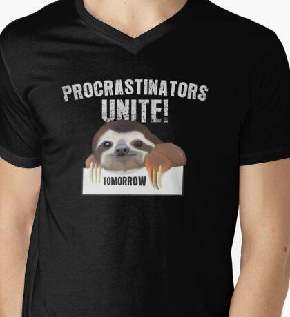 Procrastinators unite Mens V-Neck T-Shirt