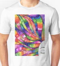 Woman with Rainbow hair T-Shirt