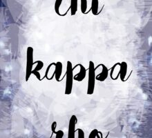 Chi Kappa Rho Sticker