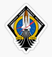 STS-135 Final Shuttle Mission Patch Sticker