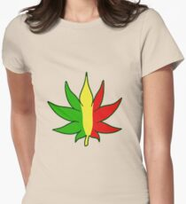 Rasta - Cannabis - Weed - 420 - (Designs4You) Womens Fitted T-Shirt