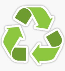 Green Reduce, Reuse, Recycle, Repurpose Mother Earth Sticker