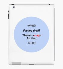 Fun tired nap quote iPad Case/Skin