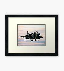 RAF Harrier landing Framed Print