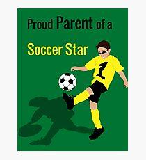 Soccer Boy (Parent) Photographic Print