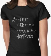 "Universe Lagrangian. ""w"" Women's Fitted T-Shirt"