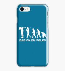 Dab evolution white iPhone Case/Skin