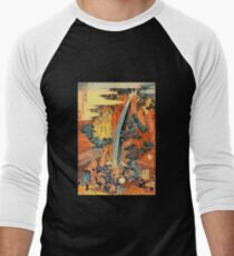 'Waterfalls In All Provinces 2' by Katsushika Hokusai (Reproduction) T-Shirt