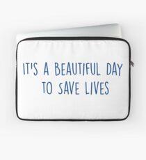 Es ist ein schöner Tag, um Leben zu retten - NAVY Laptoptasche