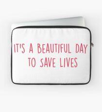 Es ist ein schöner Tag, um Leben zu retten - ROT Laptoptasche