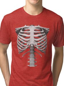 Anatomy white bones skeleton Tri-blend T-Shirt