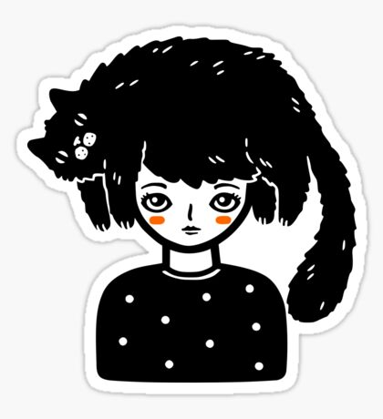 Cat Hair Glossy Sticker