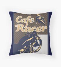 Cafe Racer retro style Throw Pillow