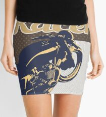 Cafe Racer retro style Mini Skirt