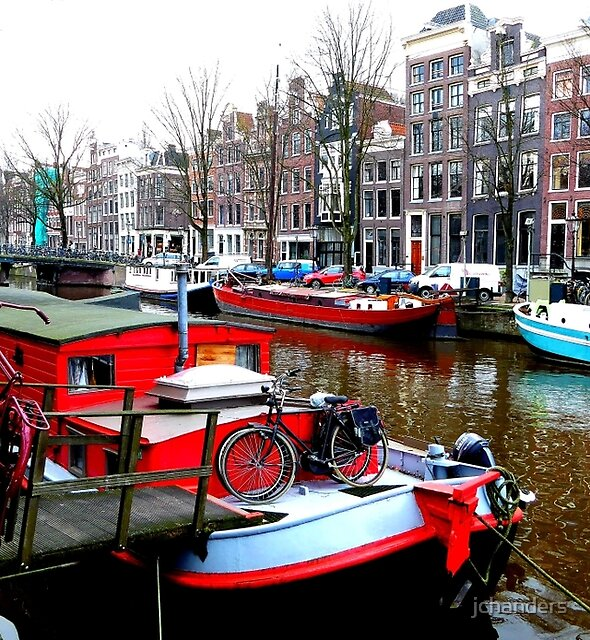 Living colourfully at Amsterdam by jchanders