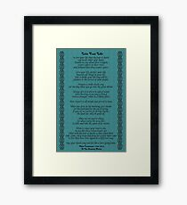 """Live Your Life""  by Chief Tecumseh Turquoise  Framed Print"